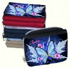 Personalised Ladies Blue Butterfly Purse or Add your Own Photo & Name - GIFT