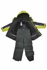 Kids Children Boys Ski/Snow Suit Jacket/Pants Green Size 3-10 Water/Wind Proof
