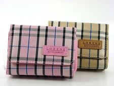 LADIES LORENZ CHECKED STYLE PURSE / WALLET IN PINK AND BEIGE BNWT