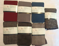 WILLOW BAY S M or L Control Top Fashion Tight Choice NWT Teal Wine Grey Tights