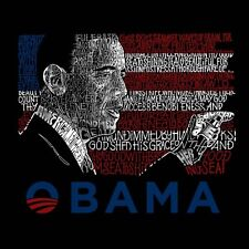 Men's Long Sleeve T-Shirt- Barack Obama - All Lyrics to America the Beautiful