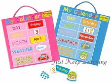 MY CALENDAR *MAGNETIC* Children's FUN Daily Activity*Learn Numbers/Days/Weather*