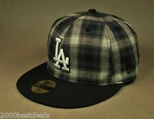 NEW ERA 59FIFTY LOS ANGELES DODGERS SUBFRESH BLACK WHITE PLAID MLB FITTED HAT