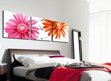 Flowers art Wall Decorative Canvas Print Set Of 3 high quality - Framed