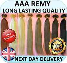 "Pre Bonded Remy 100% Human Hair Extensions 18"" Nail U Tip (50 100 200 + STRANDS)"