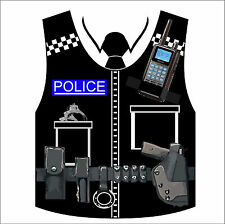 Fancy Dress Police Costume, tshirt, funny tee, All Sizes, White tee, joke,