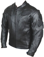 Biker Leather Motorcycle Riding Racing Jacket with Padding all Leather New