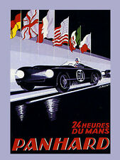 Le Mans Car Race Grand Prix Automobile France French Vintage Poster Repo FREE SH
