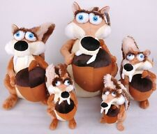 """7'' 10"""" 13"""" Scrat & Scratte Movie The Ice Age 4 Soft Toy Plush Doll"""