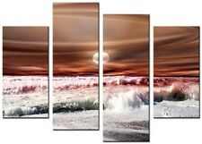 CANVAS WALL ART LARGE QUALITY ABSTRACT PRINTS CONTEMPORARY DIGITAL OPUS BROWN