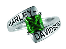 Harley Davidson Faux Emerald Ring -  by The Franklin Mint