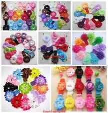 lots Baby Crochet Headband Cute Flower Hair Bow Accessory for woman girls kids