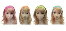 NEON 1980s #HAIRBAND PINK / ORANGE / GREEN / ORANGE FANCY DRESS ADULT