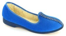 LADIES WARM LINED SLIPPERS  AVAILABLE IN COBAL BLUE (TIMPSON)