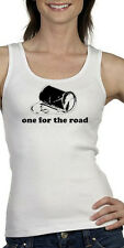 One for the Road Tank Top S - 2XL White Sexy Alcohol Beer Funny dark ironic cami