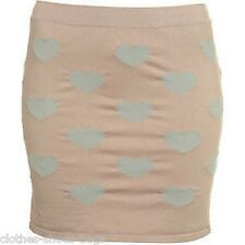 TOPSHOP NUDE BODYCON FITTED STRETCH MINI SKIRT SIZE S M L 8 10 12 14 16 NEW (LS)