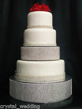 Real Crystal rhinestone cake riser tier separaters  for wedding cake