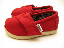 TINY TOMS CANVAS SLIP ON TODDLER RED