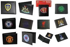 OFFICIAL FOOTBALL CLUB - EMBROIDERED CREST LEATHER MONEY WALLET - NEW GIFT XMAS