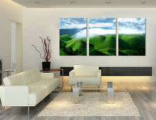 Refreshing Mountain Forest view quality Wall Decor Canvas Print Set Of 3 Framed
