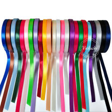 """25 Yards 1/4"""" 6mm wide Satin Ribbon Roll Bow Wedding Party Craft Decorations"""