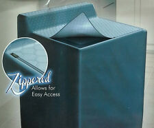QUILTED VINYL WASHING MACHINE COVER w ZIPPERED TOP WATERPROOF APPLIANCE TOPPER