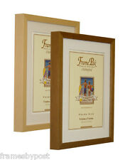 Beech or Antique Wooden Photo Picture Frames with White Black or Ivory Mount RIO