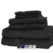 Luxury 6pc Solid Combed Bath Towel Set 100% Egyptian Cotton 650 gsm-ALL COLORS