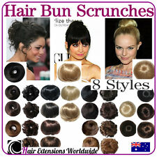 HAIR SCRUNCHIE Scrunchy Bun Pony Tail Extensions Various Styles/Colours - Sydney