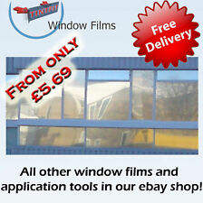 MIRROR SILVER 80%, 95% & 99% ONE WAY PRO WINDOW TINTING TINT FILM
