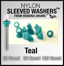20 50 100 TEAL Nylon SLEEVED WASHERS Hendrix Drums tension rod color green/blue