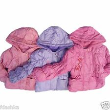 BABY GIRL TODDLER PINK LILAC PADDED WINTER JACKET COAT 6-12m 12-18m 18-23m