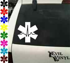 EMT Cardiac Decal Car Window Nurse Emergency Medical Star Laptop Sticker ANYSIZE