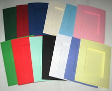 Aperture Cards Oblong  A6 3 fold with env YOU PICK COLOURS & PACK SIZE