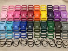 15 Sets, 1'' (25mm) Dog Collar Hardware Kits- Super Strong Buckles, multi colors