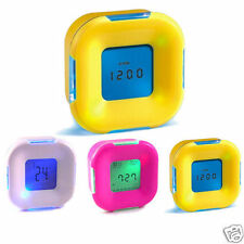 Four Side Alarm Clock with Temperature Time and Timer