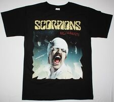 SCORPIONS BLACKOUT'82 HARD ROCK MICHAEL SCHENKER GROUP UFO NEW BLACK T-SHIRT