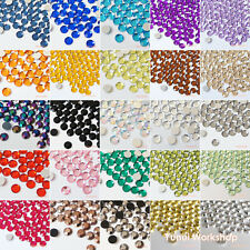 1000pcs (2mm - 10mm) 30 Colors & AB Acrylic Flat Back Rhinestone Scrapbook Nail