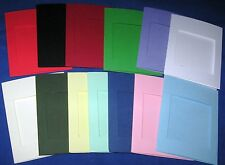 Aperture Cards 114x88 mm Square 3 fold with env YOU PICK THE COLOURS & PACK SIZE