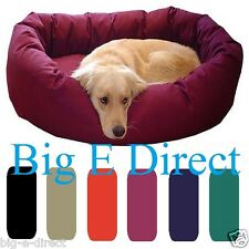 "Premium X Large Pet Donut Bagel Dog Bed 40"" & 52"" Various Colors 360° Bolster"