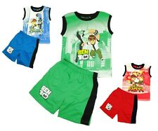 NWT BEN 10 LICENSED ULTIMATE ALIEN BOYS TSHIRT TOP SHORTS SET SIZE 4,6,8