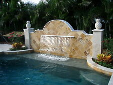 Pool Aquatics Sheer Descent Water Fall Fountain Pond Garden Waterfall Feature