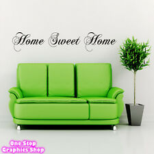 HOME SWEET HOME LARGE WALL ART QUOTE STICKER -  BEDROOM LOUNGE KIDS LOVE DECAL