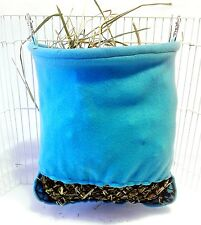 Hay Pouch slow feed bag for guinea pigs rabbits chinchillas  MANY FABRICS!
