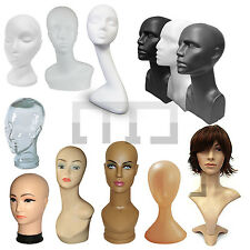 FEMALE MANNEQUIN DISPLAY HEAD/ HEADS (PLASTIC/ POLYSTYRENE/ GLASS/ FIBERGLASS)