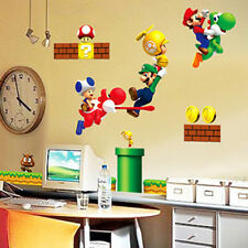 Cute Super Mario Home Room Wall Mural Window Decor Stickers decals removable New
