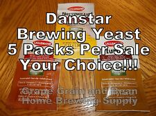 Lallemand Danstar Beer Yeast, 5 Packs Per Sale, YOUR CHOICE!!!, Or Mix and Match