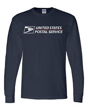 USPS POSTAL LONG SLEEVE T-SHIRT WITH FULL POSTAL LOGO ON CHEST All Sizes S-XXXL