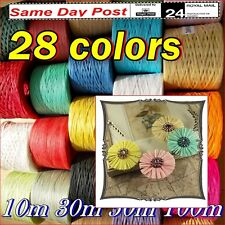 Raffia Paper Ribbon All Colours decorating flowers gifts craft scrapbook 2- 100m