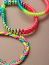 Neon corded plaited friendship bracelet wristand *NEW*